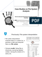 Case Studies on File System Analysis