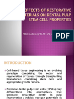 Effects of Restorative Materials on Dental Pulp