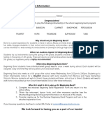 beginning band registration - information