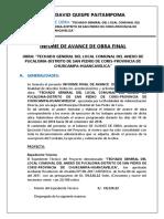 2. Informe de Avance