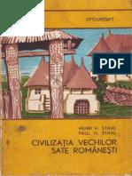 Stahl Henri Stahl Paul Civilizatia Vechilor Sate Romanesti 1968