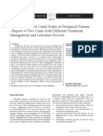 [Balkan Journal of Dental Medicine] Extrusion of Root Canal Sealer in Periapical Tissues - Report of Two Cases with Different Treatment Management and Literature Review.pdf
