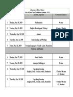 Date Sheet Class IV