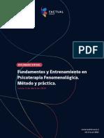 Brochure Diplomado Fundamentos y Entrenamiento en Psicoterapia Fenomenológica.