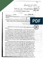 1988 30 MAGGIO nota del Consigliere Istruttore del Tribunale di Palermo A  MELI  SEQUESTRO FIORENTINO 2500 PROCEDIMENTI PENDENTI  ORLANDO LEOLUCA GALASSO ALFREDO LA RETE