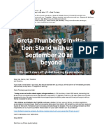 Immediately provide a safe pathway to stay below 1.5° —Greta Thunberg