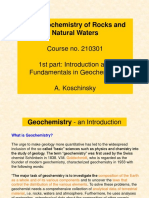 Geochemistry Introduction