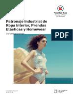 Patronaje Industrial Ropa Interior Prendas Elasticas y Homewear