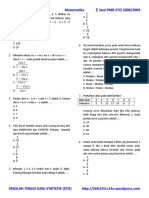 USM STIS 2008 Matematika
