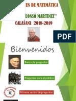 V Concurso de Matematica Jesus Alonso Martinez 2018-2019
