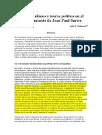 Existencialismo y teoría política en el pensamiento de Sartre