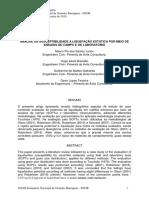 Análise da Susceptibilidade à Liquefação Estática Por Meio de Ensaios de Campo e de Laboratório