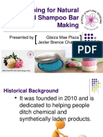 Training for Natural Solid Shampoo Bar Making