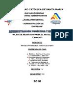 """Plan de Negocios Para El Hotel ECOLOGIC CAMANÁ"""""""
