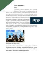 Administracion Pública en Guatemala