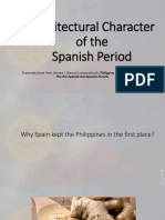 Introduction Spanish Era