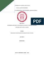 DETERMINACIÓN DEL CONTENIDO DE CENIZAS Y SOLIDOS TOTALES (MATERIA SECA) EN LA LECHE