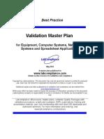 m 171 Validation Masterplan
