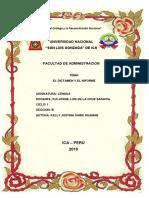 Cartula El Dictamen y El Infor