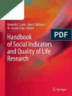 Handbook of Social Indicators and Qol Research