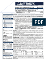 05.26.19 Game Notes