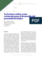 La Lectura Critica Como Estrategia Para El Desarrollo del pensamiento lógico.