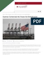 [2019.05.14] Guerras Comerciais No Ocaso Da Globalização – Crítica Da Economia