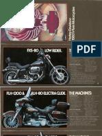 1980 Harley-davidson Bikes Brochure!