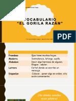1°BÁSICO-LENGUAJE-VOCABULARIO+EL+GORILA+RAZÁN