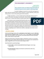 Marketing Management Assignment1 Hanika