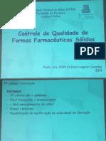 Controle de Qualidade de Formas Farmacêuticas Sólidas - Aula 4