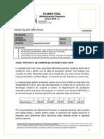 Examen Final de Administración Financiera