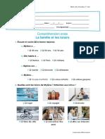 Teste de C. Orale - La Famille Et Les Loisirs