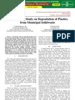 Experimental Study on Degradation of Plastics From Municipal Solidwaste IJERTCONV4IS25017