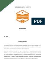 Informe Educativo Mayo