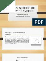 Presentación de Ley de Ampere