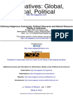 218503_Afiff, S._ Lowe, C. -- Claiming Indigenous Community- Political Discourse and Natural Resource Rights