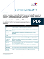 INFORME Vive ConCiencia 2016