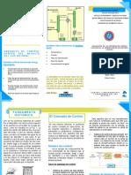 Triptico con informacion de control en procesos del gas natural