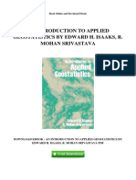 An Introduction to Applied Geostatistics by Edward h Isaaks r Mohan Srivastava