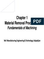 Fundamentals Machining Material Removal Process