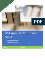 Handbook on GST Annual Return and Audit - May 2019 Edn - CA Pritam Mahure and CA Vaishali Kharde