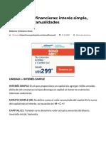 Matemáticas Financieras_ Interés Simple, Compuesto y Anualidades - GestioPolis