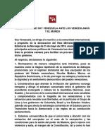 Declaración Soy Venezuela 26M (1)