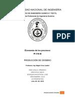 Producción de Oxígeno