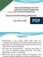 Food Microbiology, AASTU