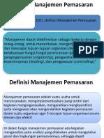 Definisi-Fungsi Manajemen Pemasaran