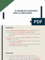 3a Generar Variables Aleatorias Simulación