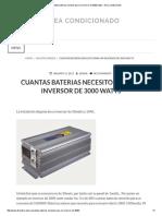 Cuantas Baterias Necesito Para Un Inversor de 3000 Watts – Airea Condicionado