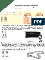 Simulado Da Olímpiada Brasileira de Matemática Das Escolas Públicas
